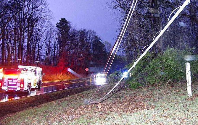 1WEB lightning power line down