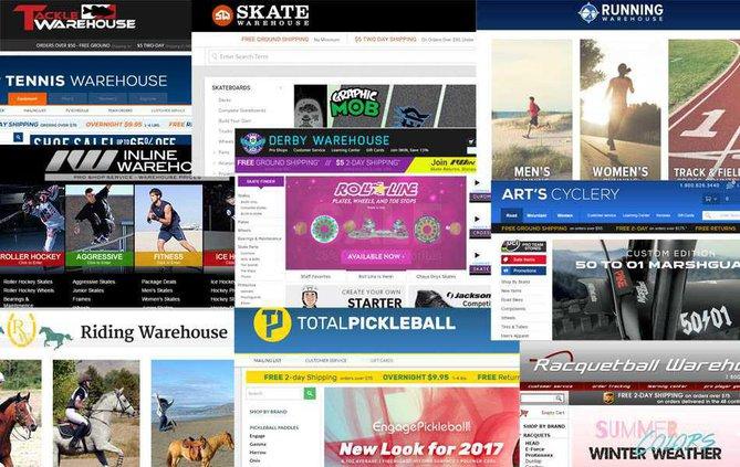 Sports Warehouse Website lifts