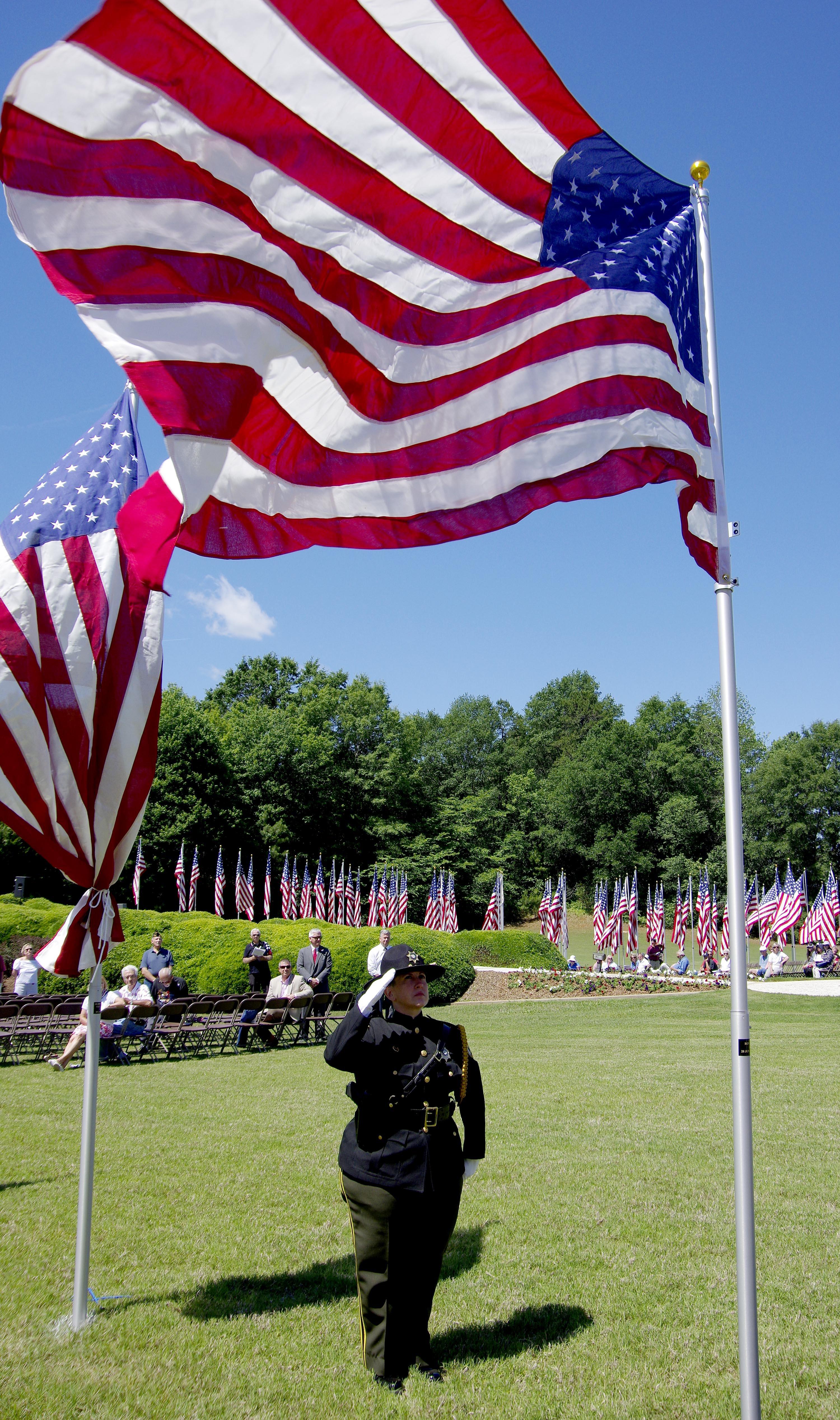 Avenue of Flags dedication