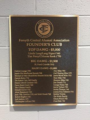 Founder's Plaque