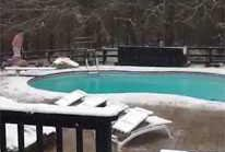 Forsyth County Man Jumps Into Snowy Pool