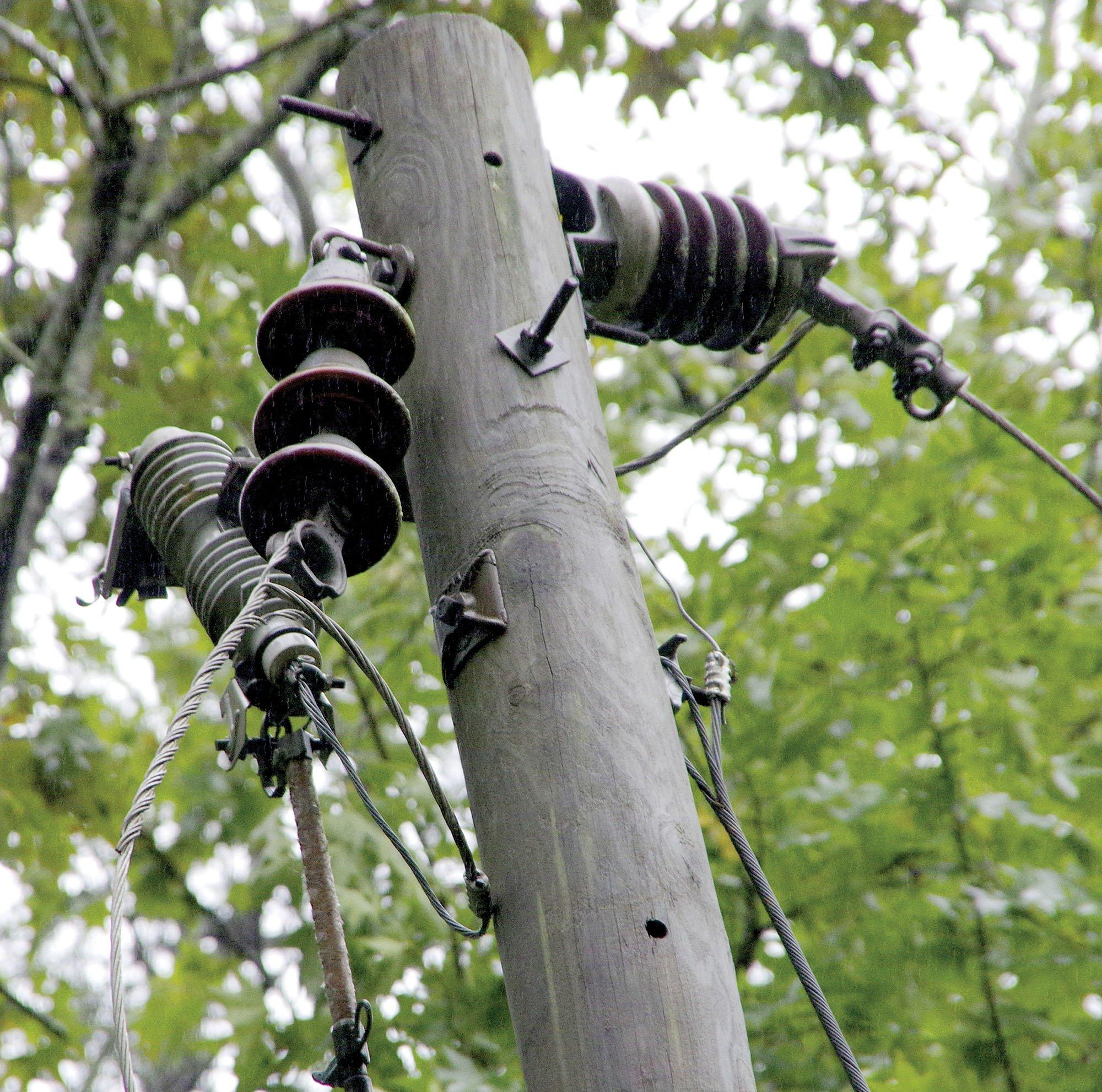 Power lines left dangling