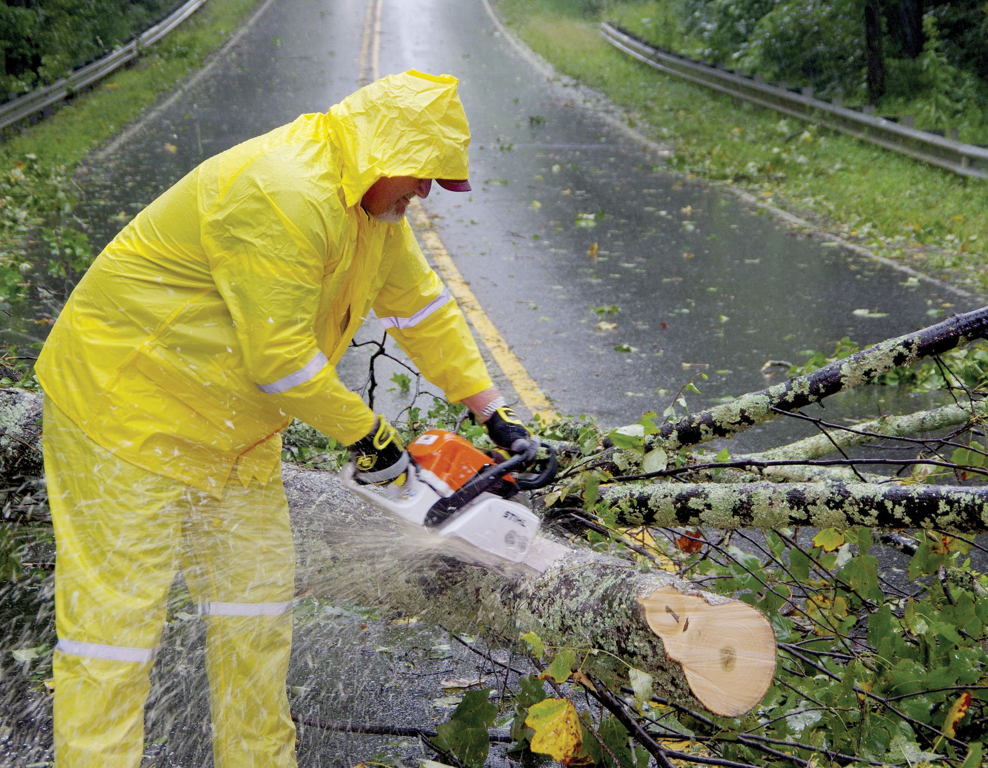 Cutting up a tree on Buford Dam Road