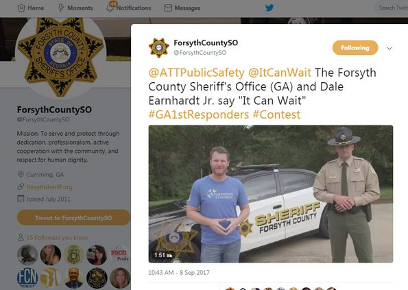 Sheriff's office Twitter campaign