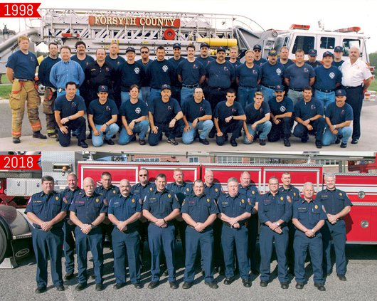 Forsyth County firefighters