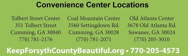 Convenience center information