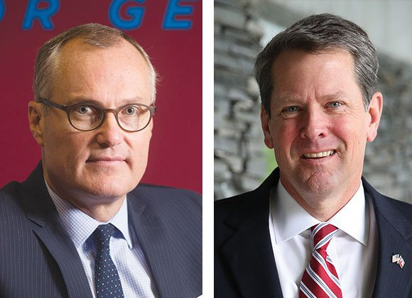 Lt. Gov. Casey Cagle and Secretary of State Brian Kemp