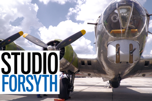 "Studio Forsyth:  Take a ride in a historical B-17 ""Flying Fortress"""