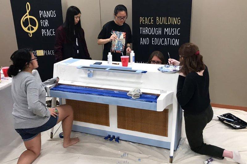 Lambert National Art Honor Society Paints Piano for Peace.jpg