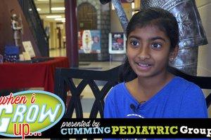 When I Grow Up: Avani Karthik, 5th grader @ Sharon Elementary