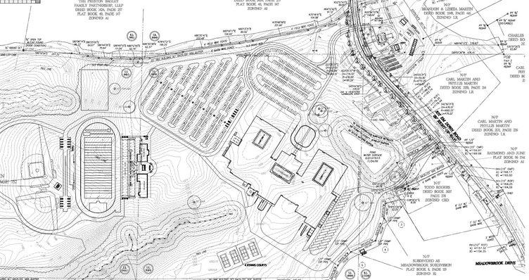 East Forsyth High School sketch plat