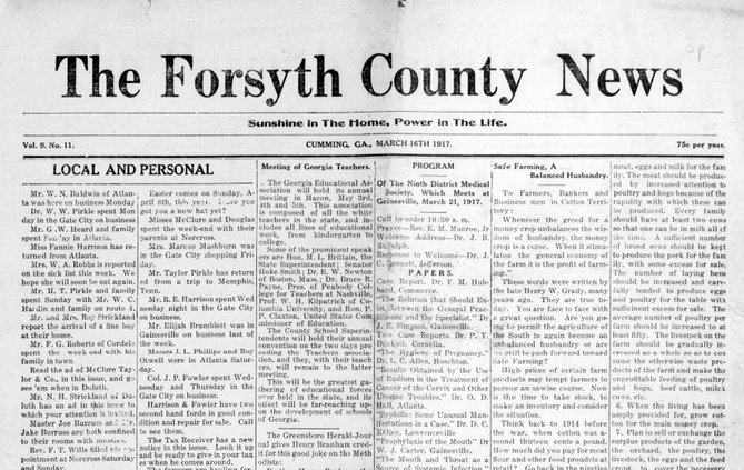 You can now search Forsyth County News back to 1917