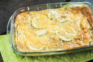 Cheesy squash zucchini casserole