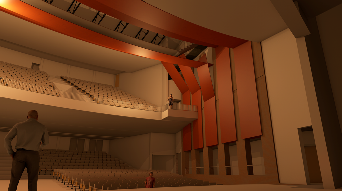 What the performing arts center and three-story Academy for